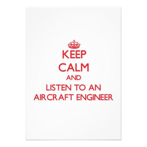 Guarde la calma y escuche un ingeniero de los avio anuncios personalizados