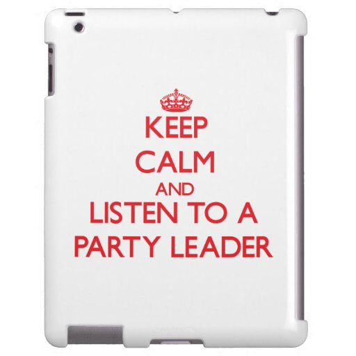 Guarde la calma y escuche un líder de fiesta