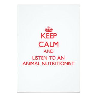 Guarde la calma y escuche un nutricionista animal comunicado personalizado