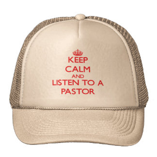 Guarde la calma y escuche un pastor gorras
