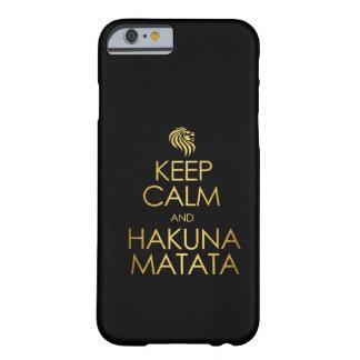 Guarde la calma y Hakuna Matata Funda Barely There iPhone 6