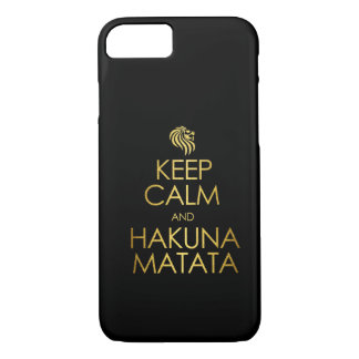 Guarde la calma y Hakuna Matata Funda iPhone 7