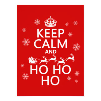 Guarde la calma y Ho Ho Ho - navidad/Santa Comunicados