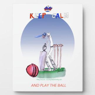 guarde la calma y juegue la bola, fernandes tony placa expositora