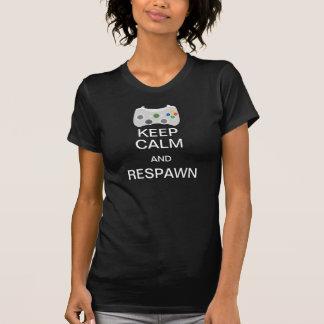Guarde la calma y la camiseta de Respawn [F]