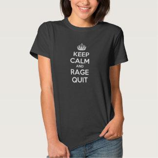 Guarde la calma y la camiseta para mujer