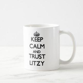 Guarde la calma y la confianza Litzy Tazas
