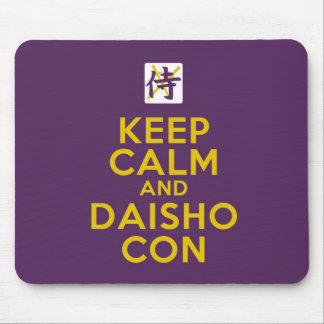 Guarde la calma y la estafa Mousepad de Daisho Tapetes De Ratón