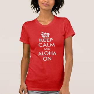 Guarde la calma y la hawaiana en hibisco camisas