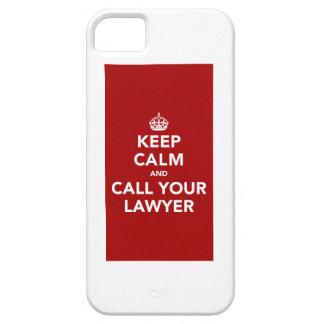 Guarde la calma y llame a su abogado iPhone 5 protectores