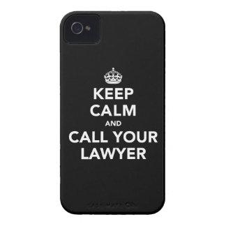 Guarde la calma y llame a su abogado Case-Mate iPhone 4 protector