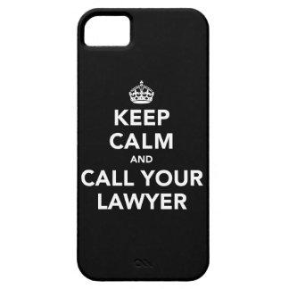 Guarde la calma y llame a su abogado iPhone 5 Case-Mate cárcasa