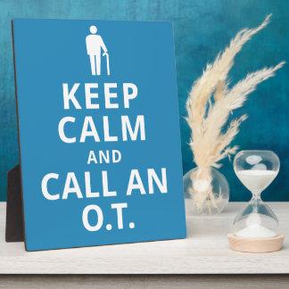 Guarde la calma y llame un O.T. - Terapeuta Placa Expositora