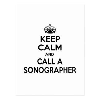Guarde la calma y llame un Sonographer Postal