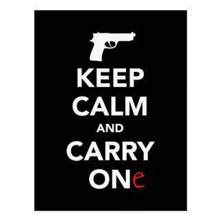 Guarde la calma y lleve un arma postal