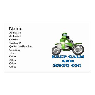 Guarde la calma y Moto encendido Plantilla De Tarjeta Personal
