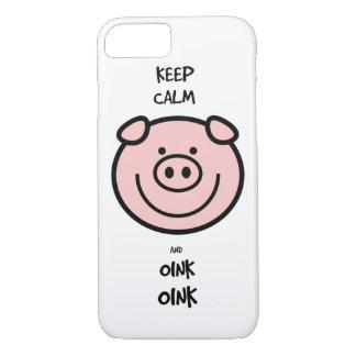 ¡Guarde la calma y oink, oink! Funda iPhone 7