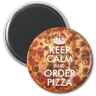 Guarde la calma y pida la foto de la pizza imanes