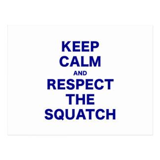Guarde la calma y respete el Squatch Postal