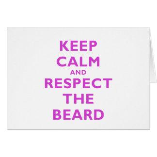Guarde la calma y respete la barba felicitacion