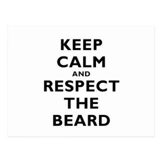 Guarde la calma y respete la barba postal