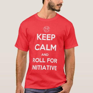 Guarde la calma y ruede para la iniciativa camiseta