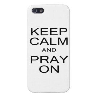 Guarde la calma y ruegue en el caso del iPhone iPhone 5 Carcasas
