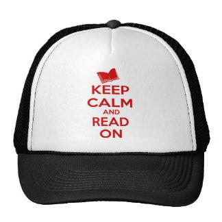 Guarde la calma y siga leyendo gorras de camionero