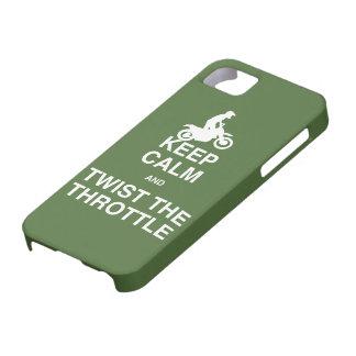 Guarde la calma y tuerza la válvula reguladora - iPhone 5 Case-Mate fundas
