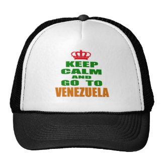 Guarde la calma y vaya a Venezuela Gorro De Camionero