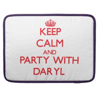 Guarde la calma y vaya de fiesta con Daryl Fundas Para Macbooks