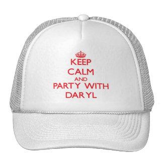 Guarde la calma y vaya de fiesta con Daryl Gorros Bordados