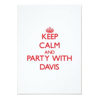 Guarde la calma y vaya de fiesta con Davis Invitacion Personalizada