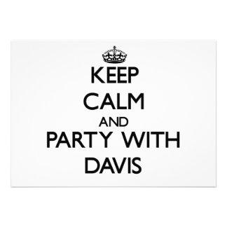 Guarde la calma y vaya de fiesta con Davis