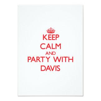 Guarde la calma y vaya de fiesta con Davis Invitación 12,7 X 17,8 Cm