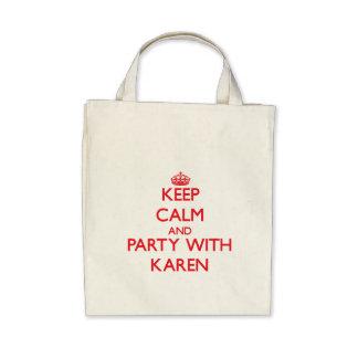 Guarde la calma y vaya de fiesta con Karen Bolsas De Mano