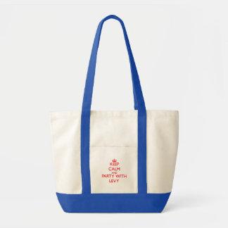 Guarde la calma y vaya de fiesta con la recaudació bolsas lienzo