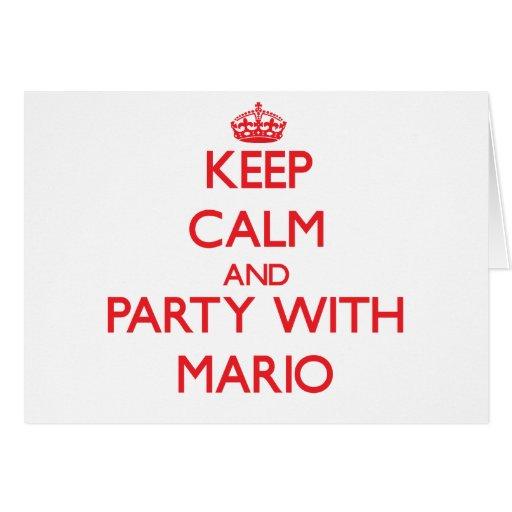 Guarde la calma y vaya de fiesta con Mario Tarjeta