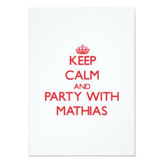 Guarde la calma y vaya de fiesta con Matías Invitación Personalizada