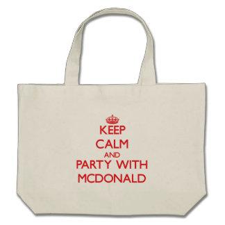 Guarde la calma y vaya de fiesta con Mcdonald Bolsas