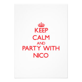 Guarde la calma y vaya de fiesta con Nico Invitación