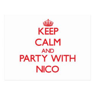 Guarde la calma y vaya de fiesta con Nico Postales