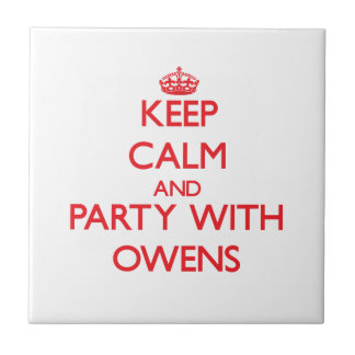 Guarde la calma y vaya de fiesta con Owens Azulejo Cerámica