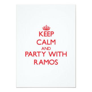 Guarde la calma y vaya de fiesta con Ramos Invitacion Personal