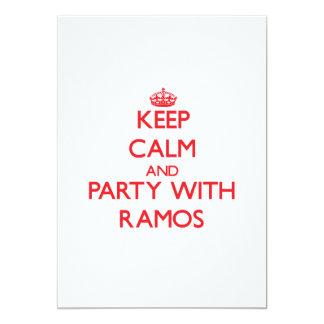 Guarde la calma y vaya de fiesta con Ramos Anuncios Personalizados