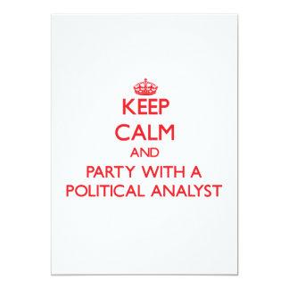 Guarde la calma y vaya de fiesta con un analista invitación 12,7 x 17,8 cm