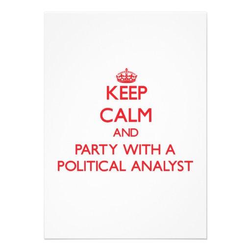 Guarde la calma y vaya de fiesta con un analista p comunicados personales