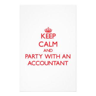 Guarde la calma y vaya de fiesta con un contable  papeleria
