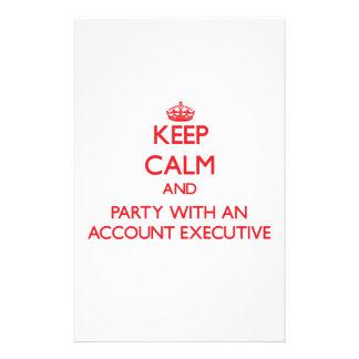 Guarde la calma y vaya de fiesta con un ejecutivo   papeleria de diseño