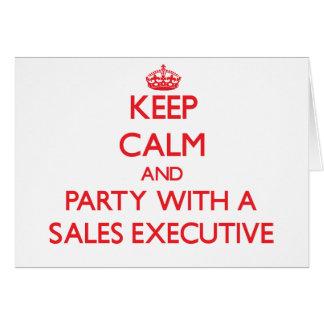 Guarde la calma y vaya de fiesta con un ejecutivo  tarjeta
